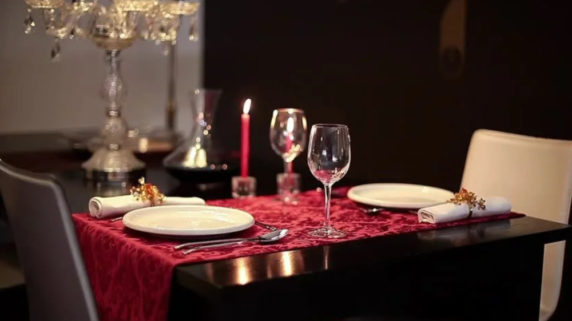 Романтичная сервировка стола
