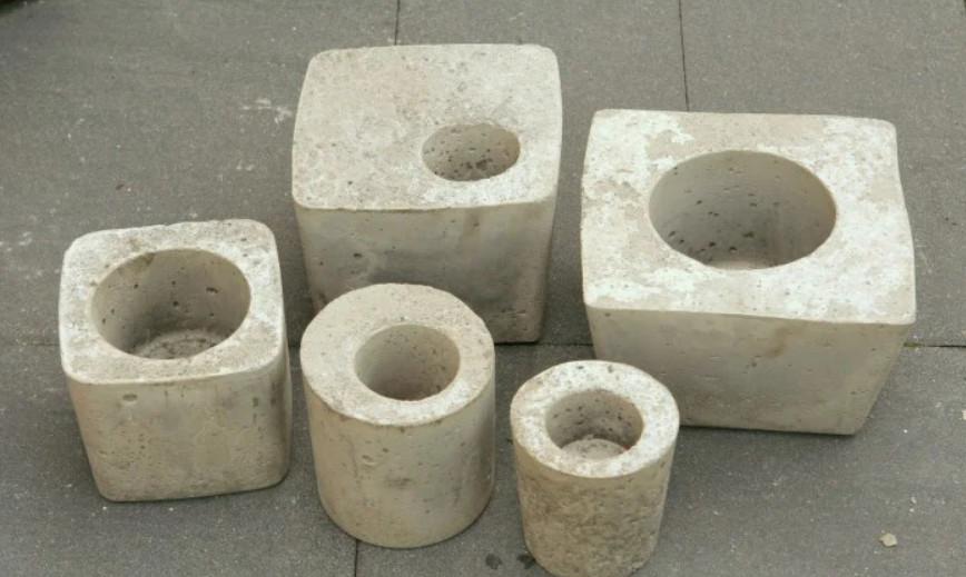 Цементные горшки по форме