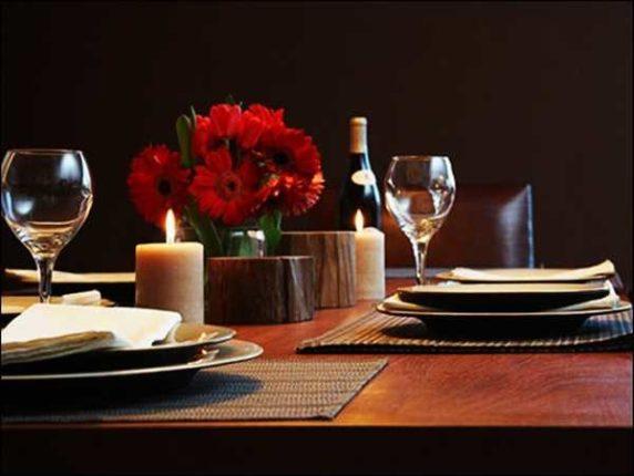 Сервировка стола для двоих