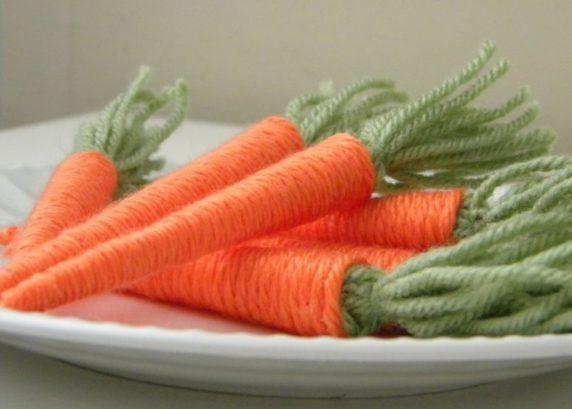 Морквоь на пасху из пряжи своими руками