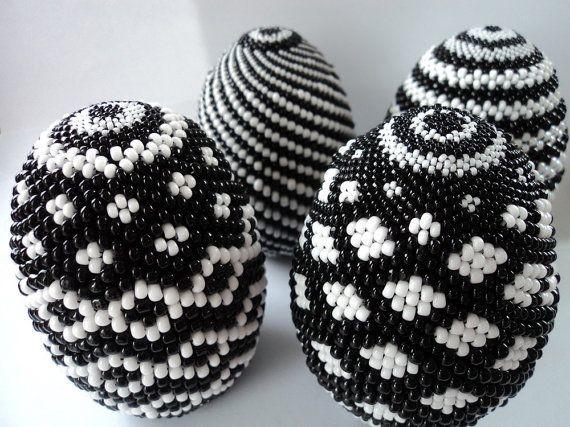 Плетение пасхального яйца из бисера