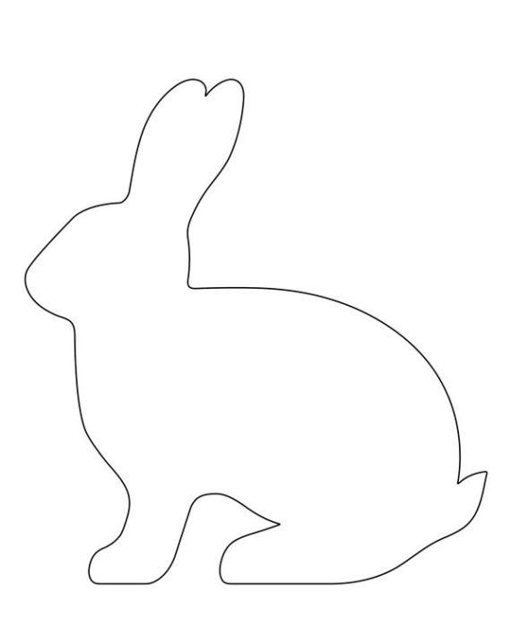 Выкройка пасхального кролика