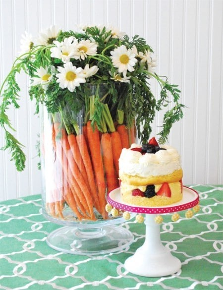 Морковь для пасхальных поделок