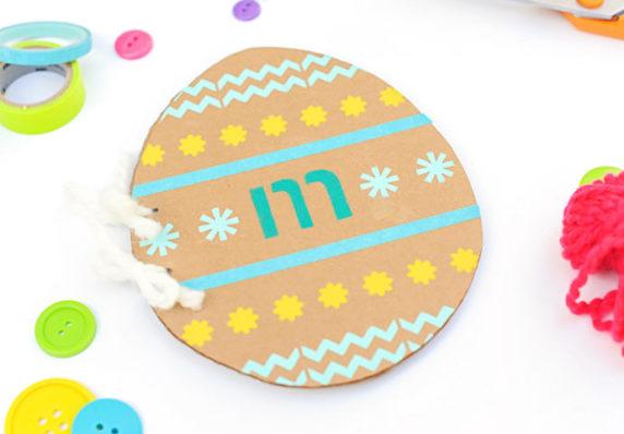 Пасхальное яйцо из картона