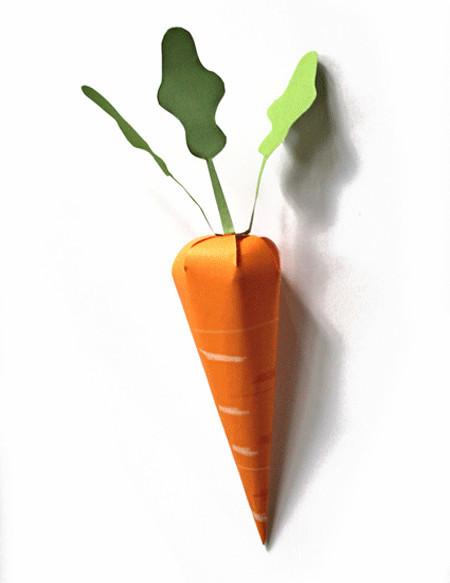 Морковь на пасху из картона своими руками