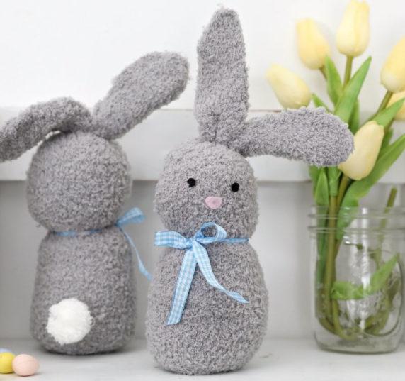 Кролик на пасху из носка