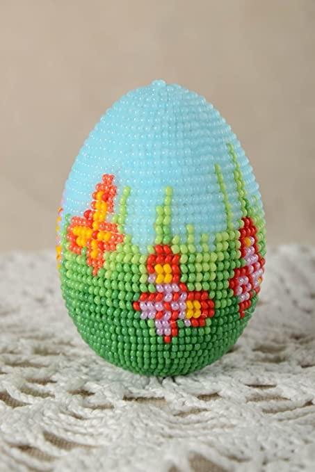 Пасхальное яйцо бисером своими руками