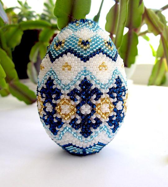 Плетение пасхального яйца из бисера своими руками