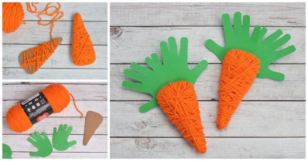Морквоь на пасху из пряжи