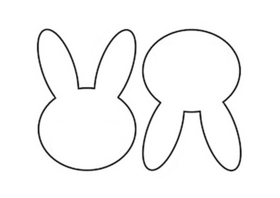 Легкая выкройка пасхального кролика