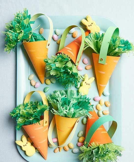 Морквь на пасху из подручных материалов
