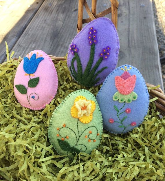 Яйцо на Пасху из фетра своими руками