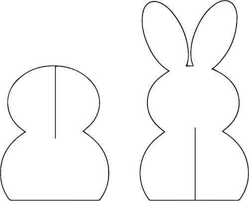 Выкройка заяца на пасху