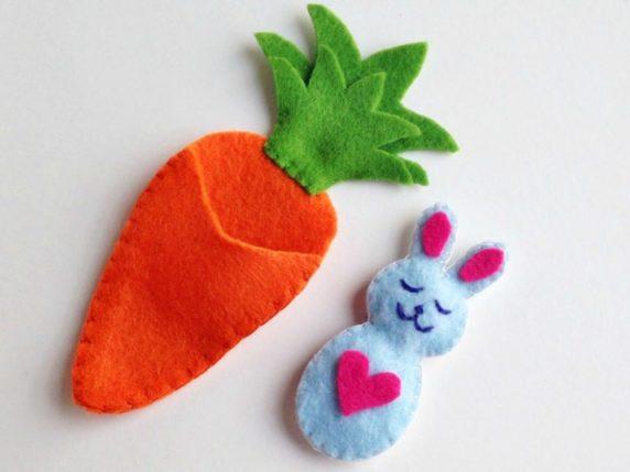 Морковь на пасху из фетра своими руками