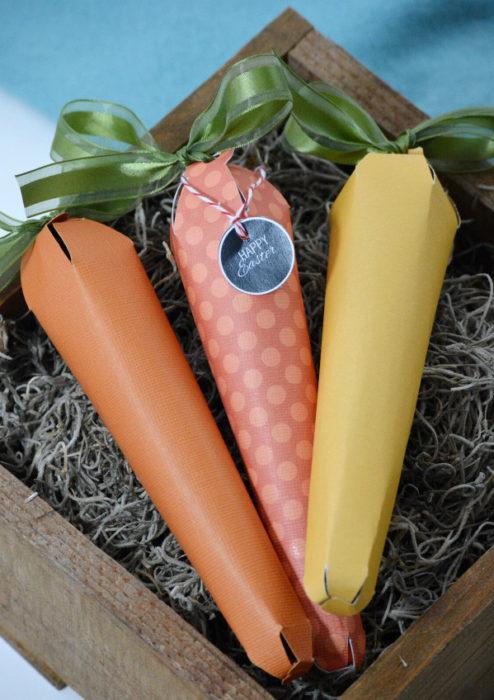 Пасхальная морковка своими руками из картона