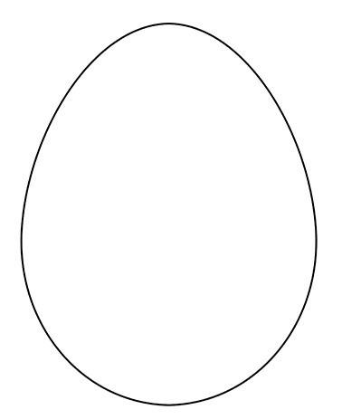 Шаблон пасхального яйца для поделок