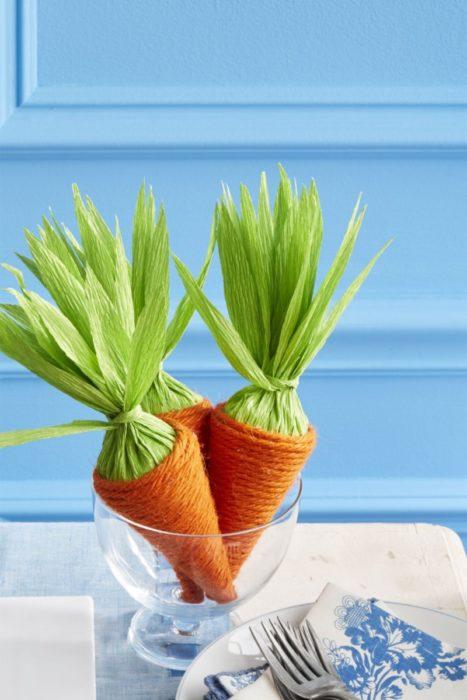Декоративная морковь своими руками из пряжи