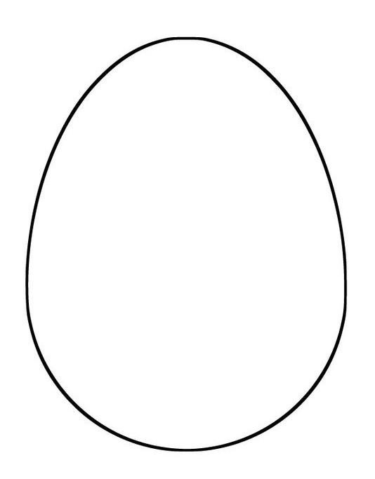 Выкройка куриного яйца для Пасхи
