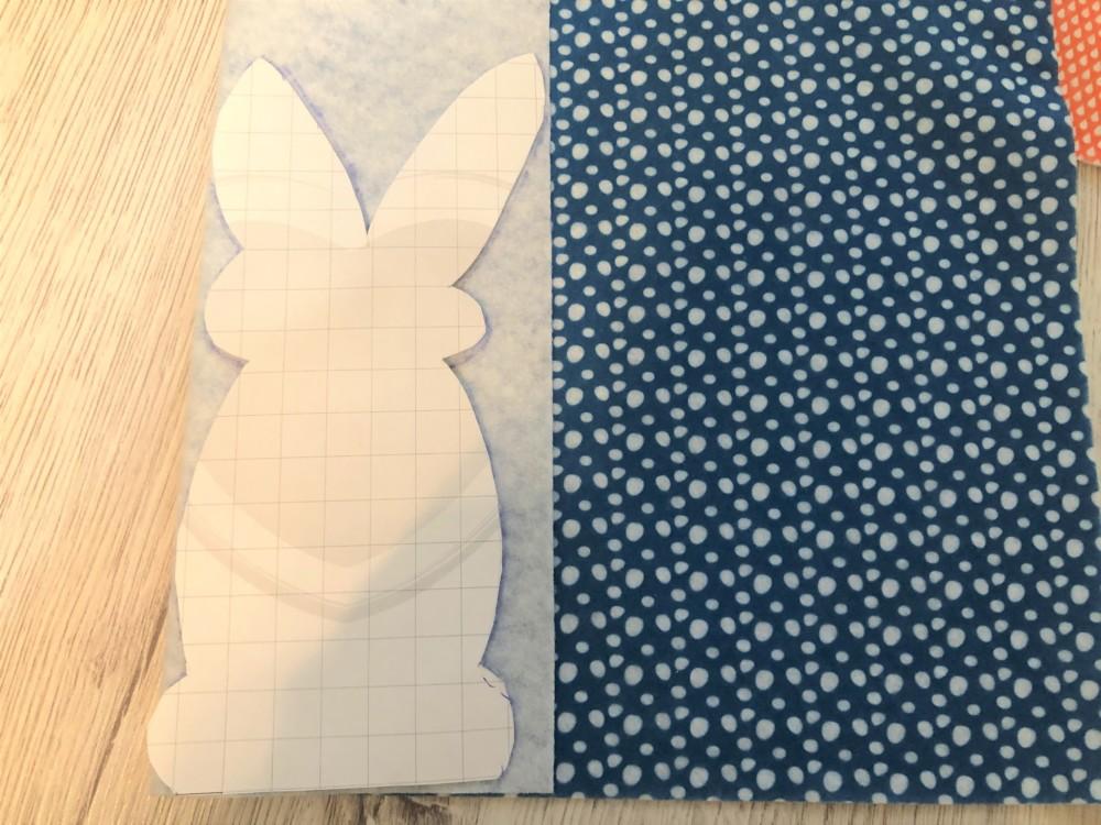 Выкройка пасхального кролика для фетровой игрушки