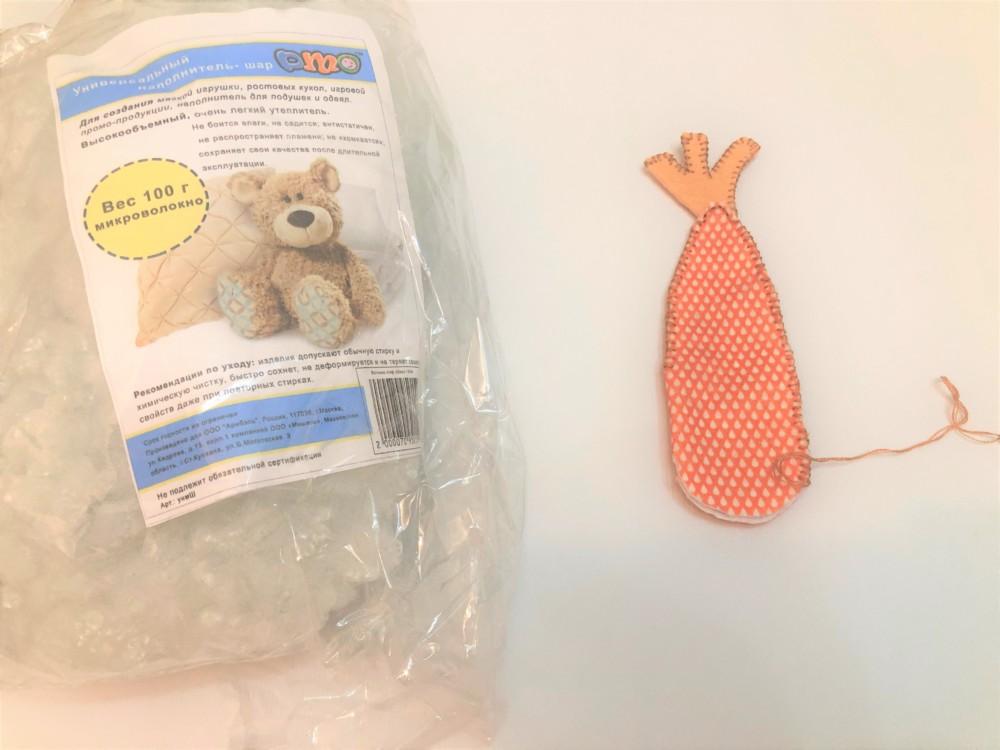 Сшиваем детали моркови