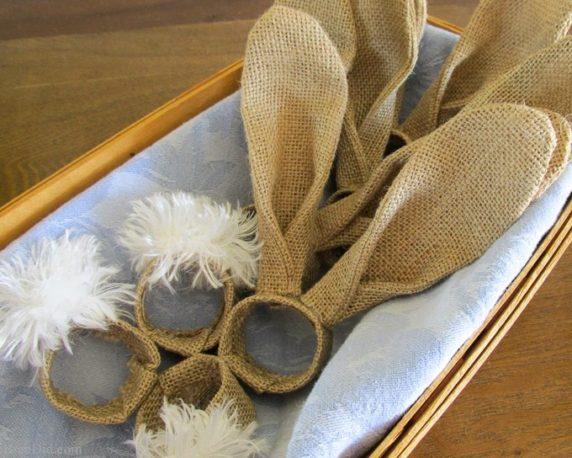 Пасхальный декор из холщового мешка своими руками для детей