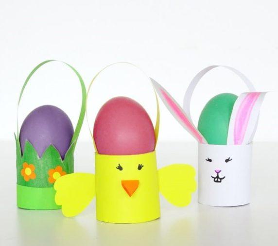 Подставка для пасхальных яиц из втулки