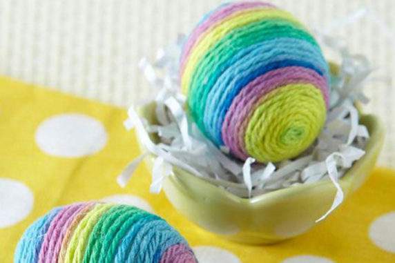 Яйцо на пасху из пряжи своими руками