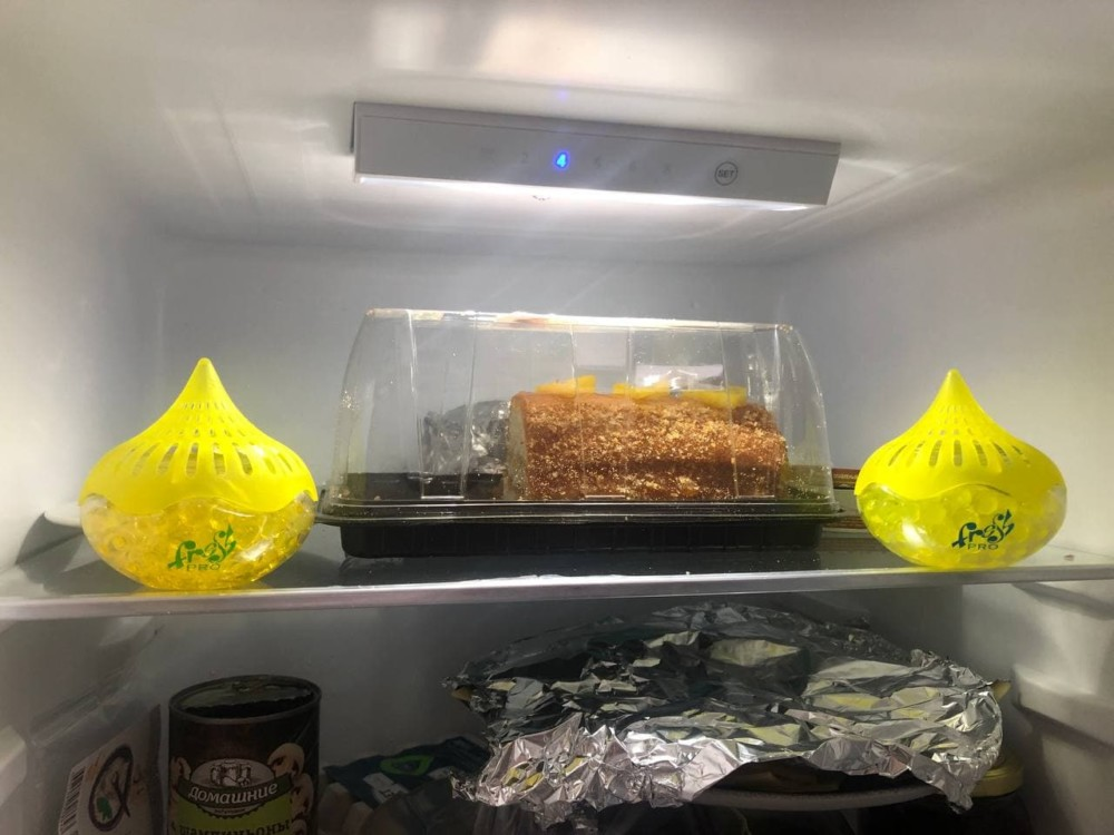 Гелевый поглотитель запаха для холодильника