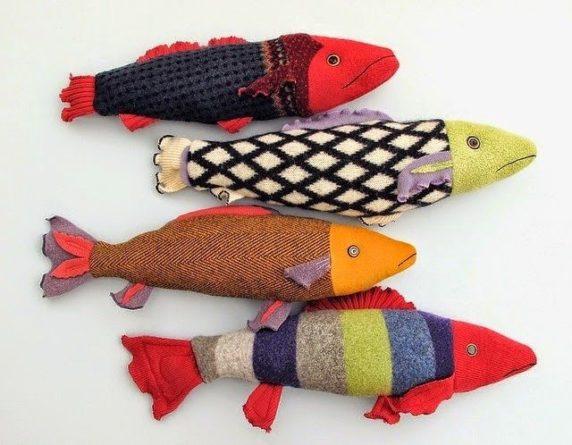Рыба из носка своими руками