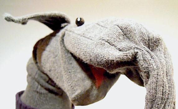 Кукла на руку из носка своими руками