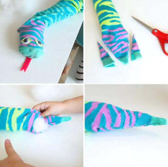 Выйкройка носка для подушки
