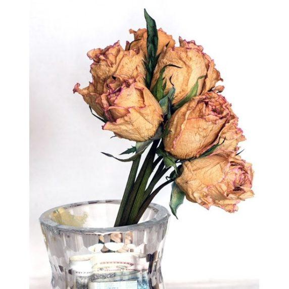 Букет из засушенных роз