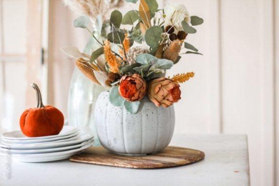 Сухоцветы в красивой вазе