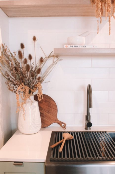 Сухие цветы на кухне