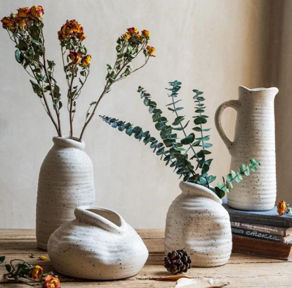 Сухоцветы в классическом интерьере