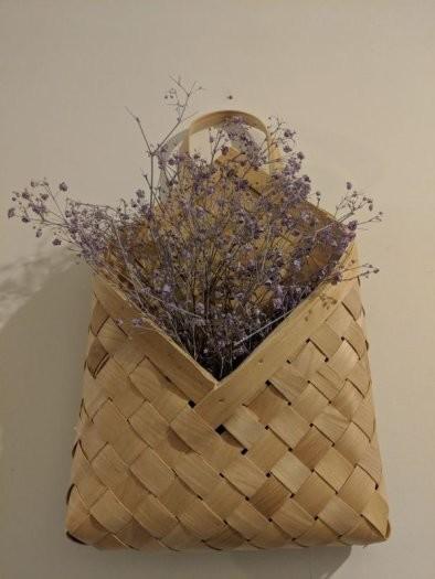 Сухоцветы в подвесной корзине