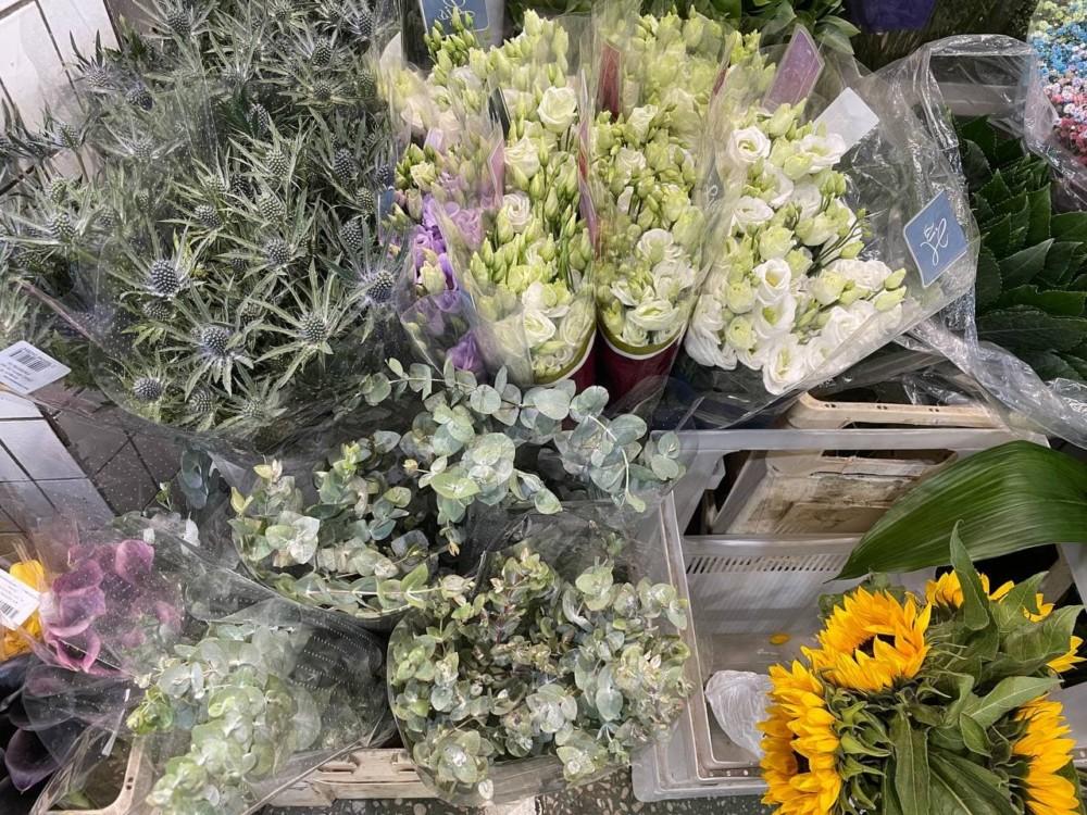 Цены на цветы на Рижском рынке в Москве