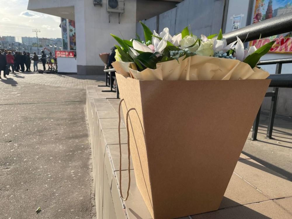 Коробки для цветов на рижском рынке