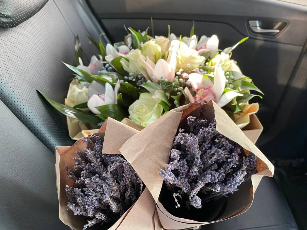 Лаванда на цветочном рынке на Рижской