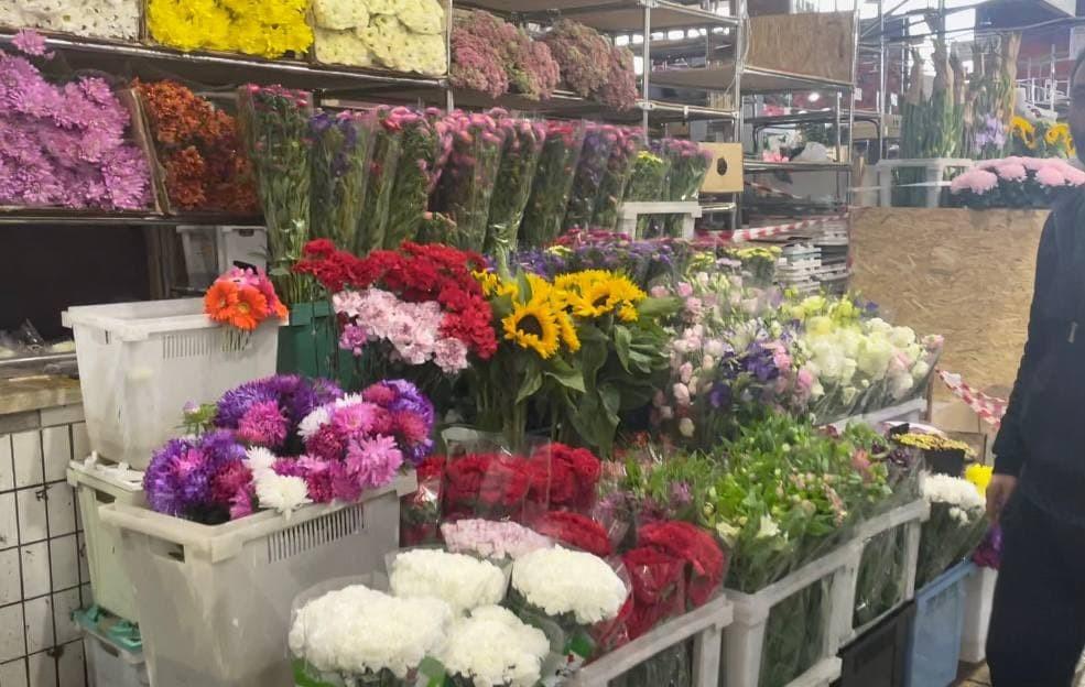 Оптовая продажа цветов на Рижском рынке