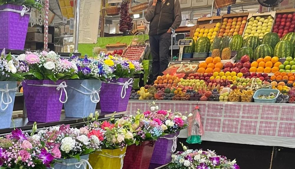 Фермерские ряды на Рижском цветочном рынке